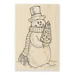 P290 Snowmans Tree Stamp