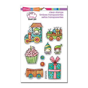 SSCP108 Whisper Happy Wagon Perfectly Clear Stamp Set