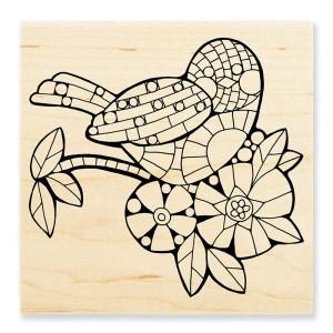 W176 Mosaic Bird Stamp