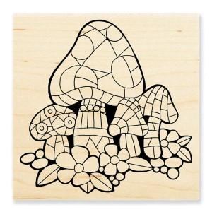 W177 Mosaic Mushroom Stamp