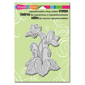 CRP294 Cling Cyclamen Stamp