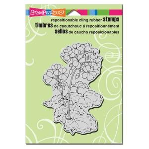 CRP296 Cling Geraniums Stamp