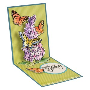 Lilac Happy Birthday Pop Up by Fran Seiford