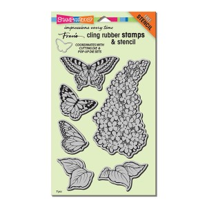 CRS5085 Lilac Cling Rubber Stamp Set