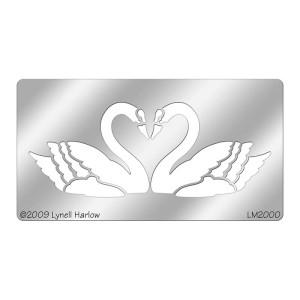DWLM2000 Heart Swans Stencil