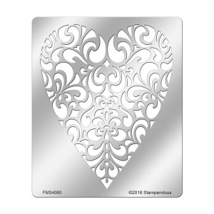 FMS4060 Ornate Heart Stencil