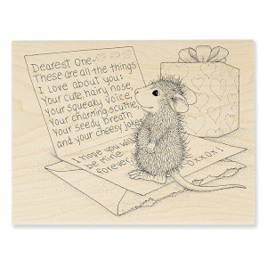 HMR81 House-Mouse® Dearest One Rubber Stamp