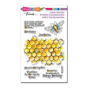 SSC1257 Honeycomb Wishes Perfectly Clear Stamps Set