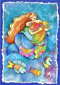 Laurel Burch Mermaid Fish