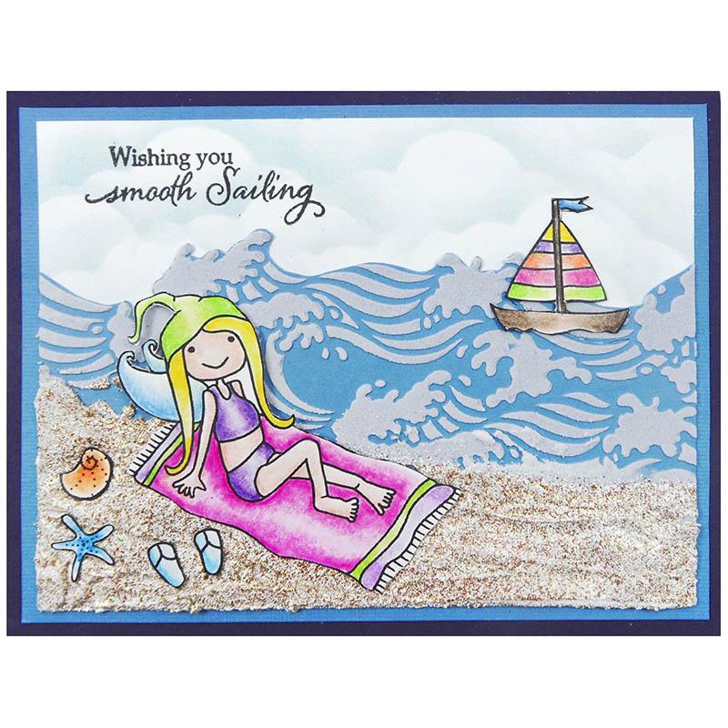 Stampendous Clear Stamp Set SSCP110 Beach Part Summer Seashells