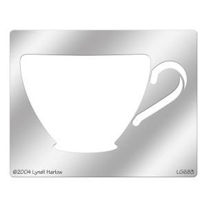 Teacup Metal Stencil