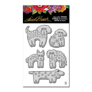 Dog Park Cling Rubber Stamps