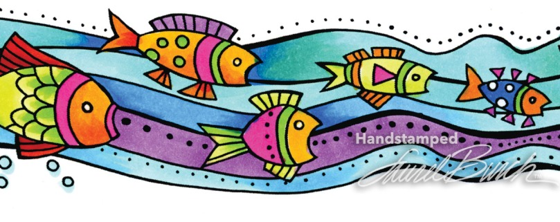 Laurel Burch Fish Wishes Perfectly Clear Stamps Set