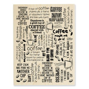 Coffee Background Stamp