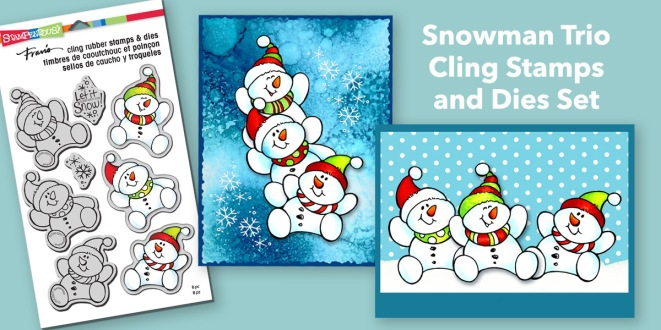 Snowman Trio stamps and dies
