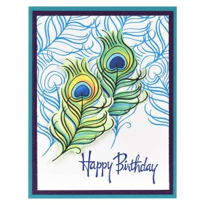Poised Peacock Card