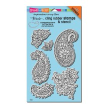 Paisley Pattern Cling Rubber Stamps