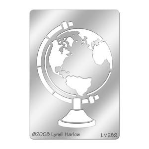 DWLM289 Globe Metal Stencil