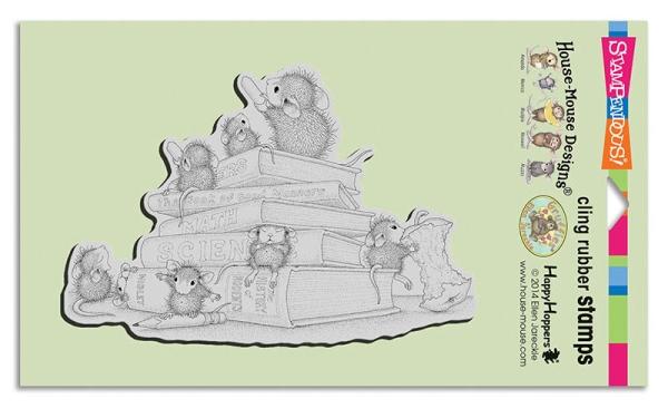 HMCR102 School Mice Cling Rubber Stamp
