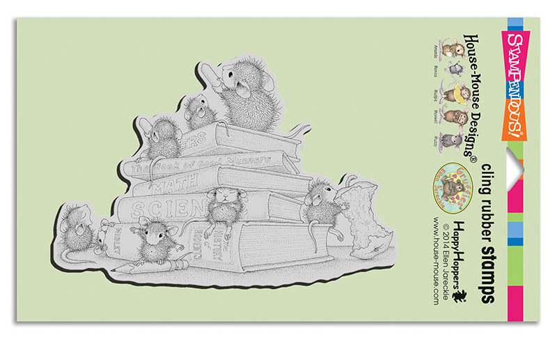 HMCR102 School Mice Cling Rubber Stamp