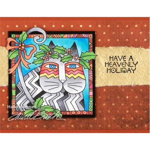 Laurel Burch Holly Cat by Debi Hammons