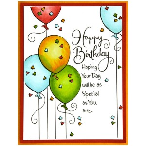 Birthday Balloons Card by Jennie Lin Black