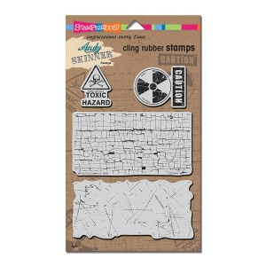 Andy Skinner's Cling Rubber Stamps - Toxic