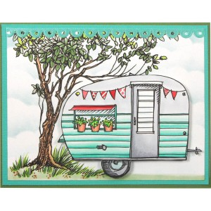 Growing Tree and Tiny Trailer by Kristine Reynolds