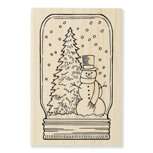 P291 Snow Jar Wood Stamp