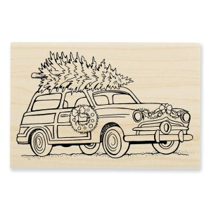P311 Woody Christmas Wood Stamp