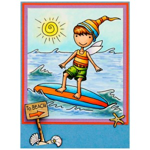 Whisper Friends Surfer by Janelle Stollfus