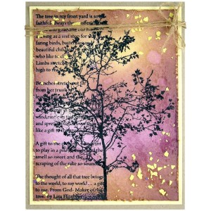 Tree Poem by Suzanne Czosek