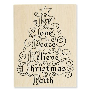 R275 Joy Tree Wood Stamp