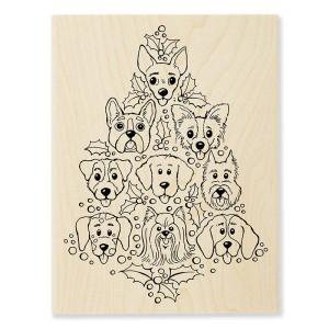 R304 Dog Tree Wood Stamp