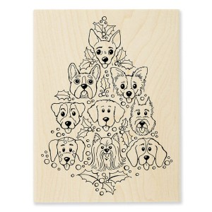 R304 Dog Tree Wood Stamp