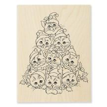 R305 Cat Tree Wood Stamp