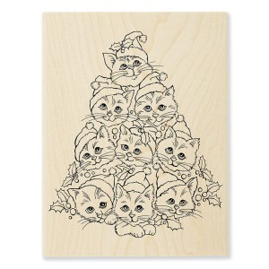 R305 Cat Tree Wood Stamp