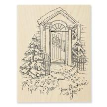 R308 Our Doorstep Wood Stamp