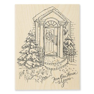 R308 Our Doorstep Wood Stamp