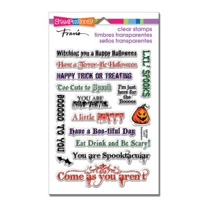 SSC1264 Spooky Words Perfectly Clear Stamps