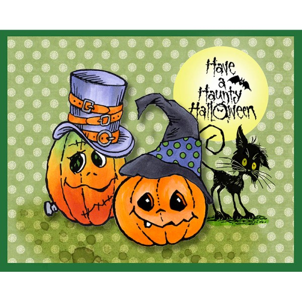 Halloween Hats Pumpkins by Fran Seiford