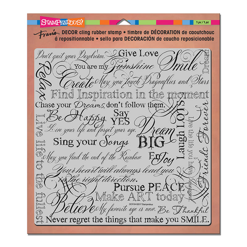 DCR104 Dream Decor Cling Rubber Stamp