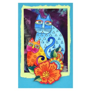 Indigo Cats Flower by Fran Seiford