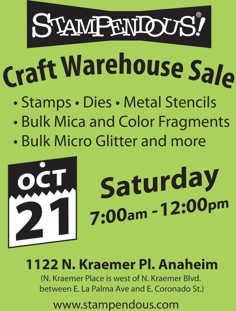 craft warehouse sale flyer