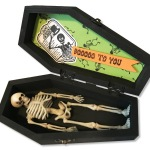 Halloween Labels Spooky Wishes Coffin by Lea Fritts