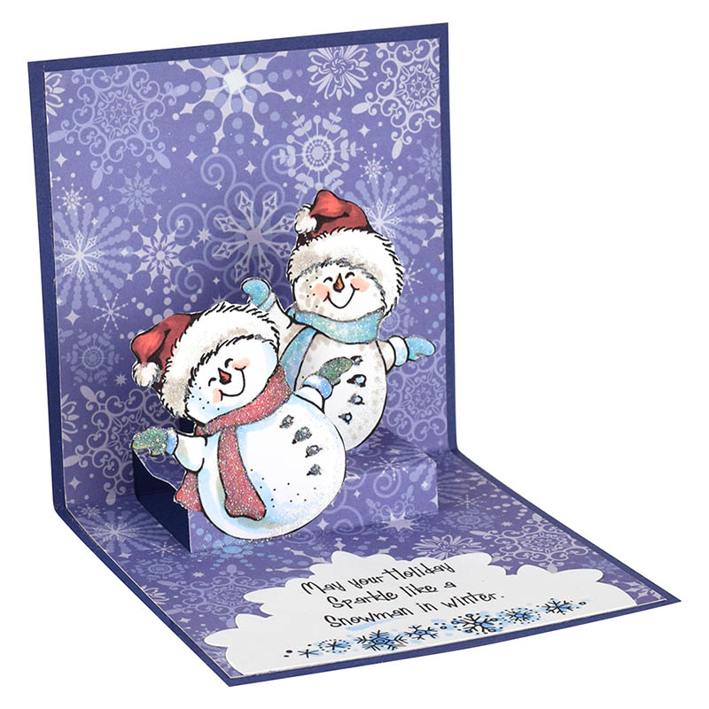 Smiling Snowman Pop Up By Fran Seiford