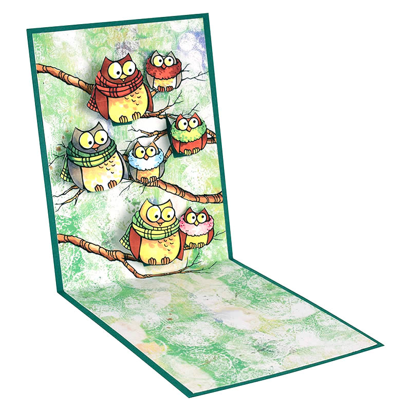 Owl Be Home Pop-Up Card