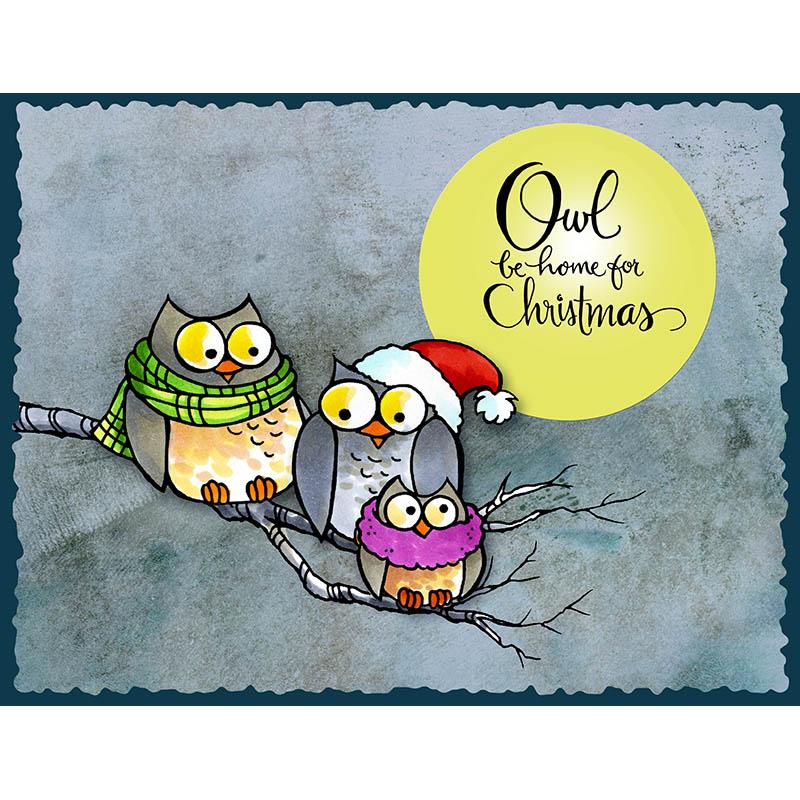 Owl Be Home Gray Skies