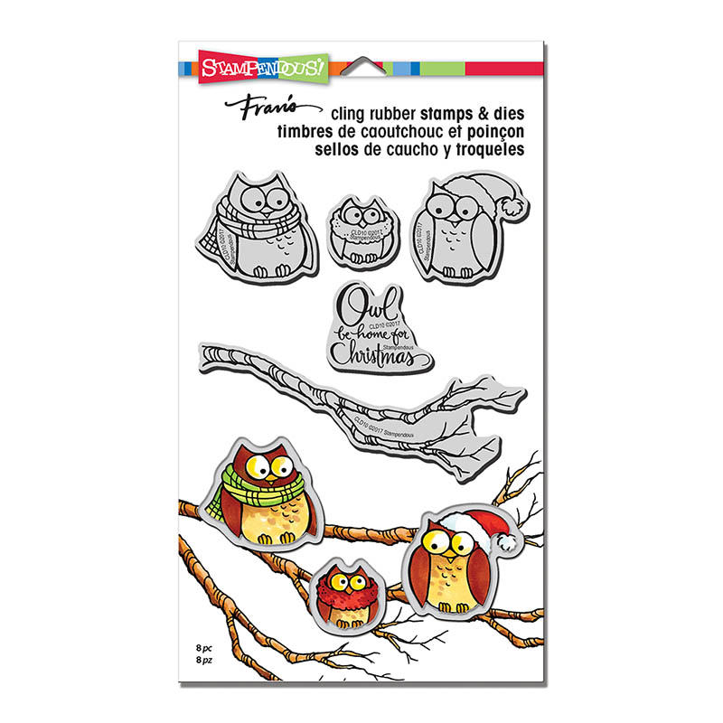 CLD10 Owl Be Home Cling Rubber Stamps and Cutting Dies Set