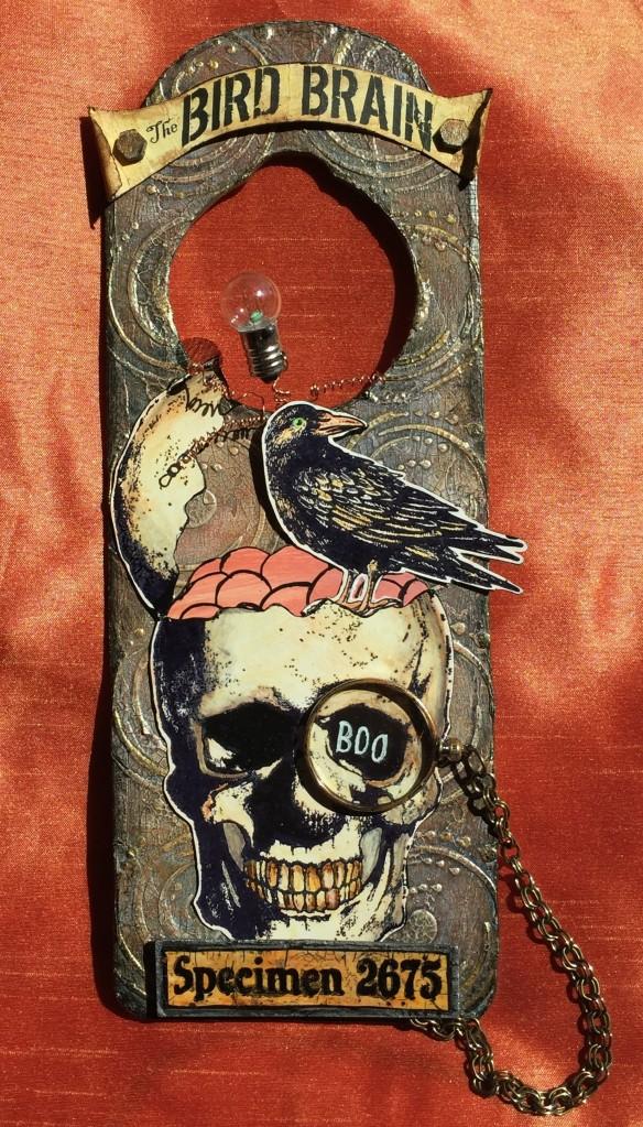 Bird Brain Door Hanger by Candy Colwell